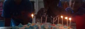 Festejando cumpleaños